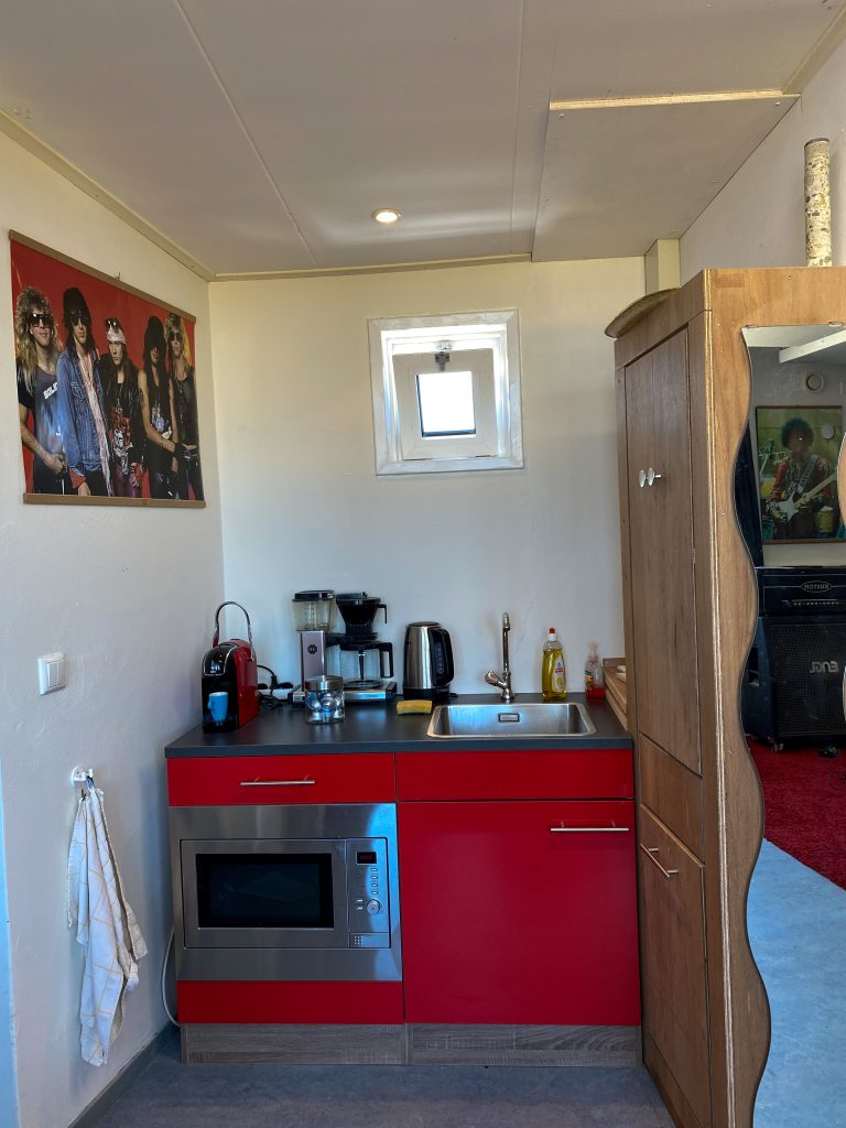 Keukentje in de oefenruimte